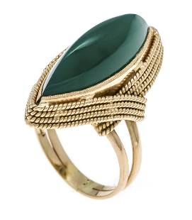Green agate ring GG 750/000 wi