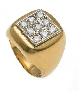 Brilliant ring GG 750/000 with
