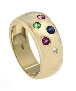Multicolor ring GG 585/000 wit