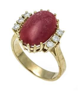 Coral diamond ring GG 585/000