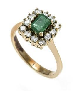 Emerald diamond ring GG 585/00