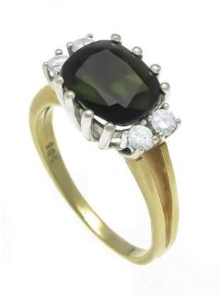 Tourmaline diamond ring GG/WG