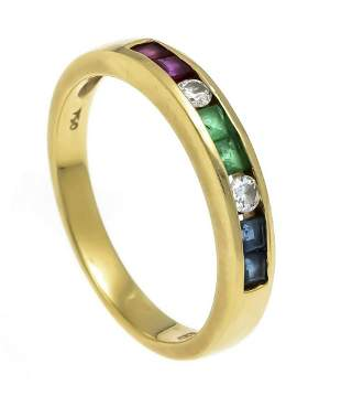 Ruby emerald sapphire ring GG