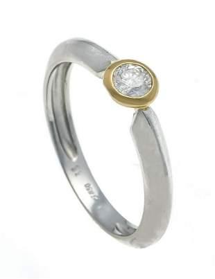 Brilliant ring platinum 950/00