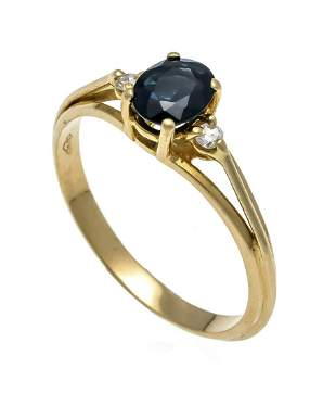 Sapphire diamond ring GG 750/0