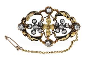Antique diamond brooch GG 585/