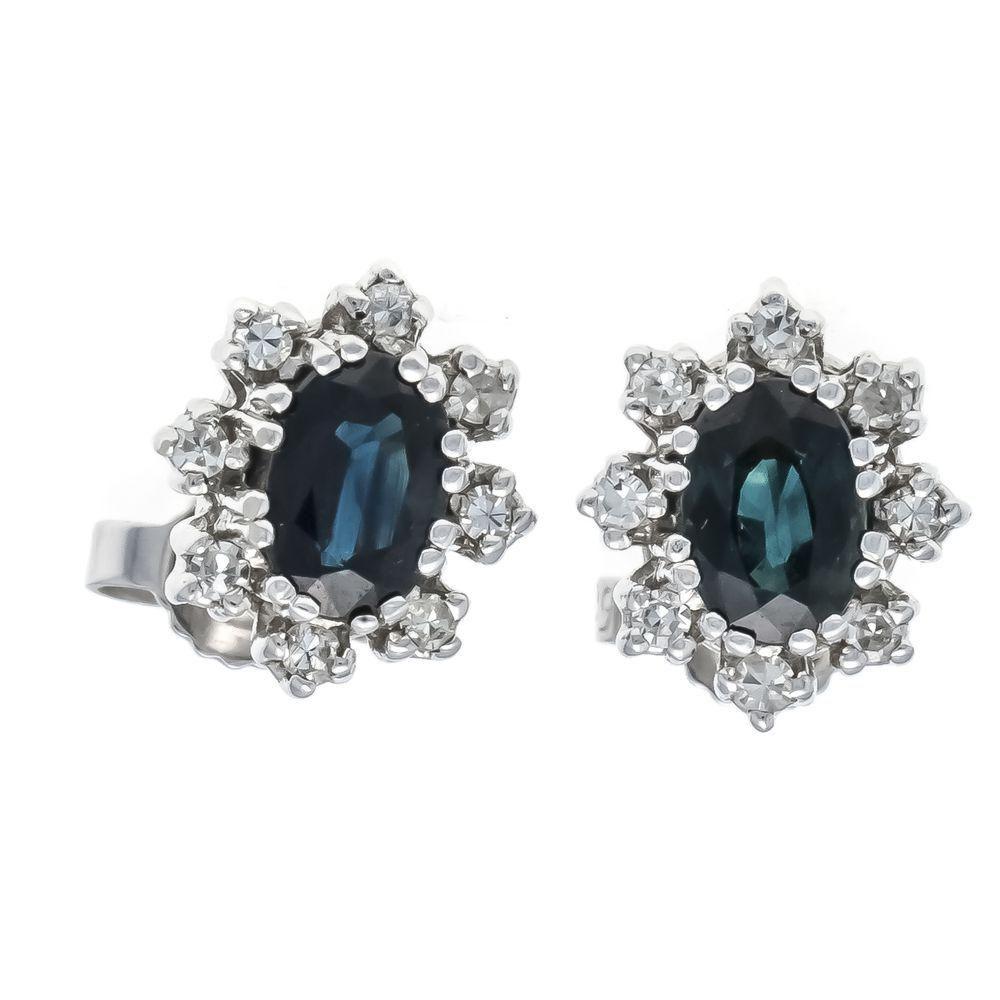 Sapphire diamond stud earrings