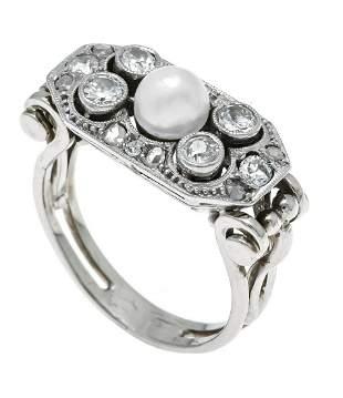 Art Deco ring WG 585/000 unsta