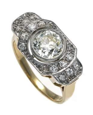 Art Deco old cut diamond ring