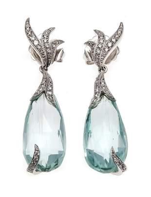 Aquamarine earrings Fa. Schupp