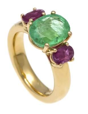 Emerald ruby ring Fa. Schupp G