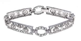 Art Deco bracelet platinum 900