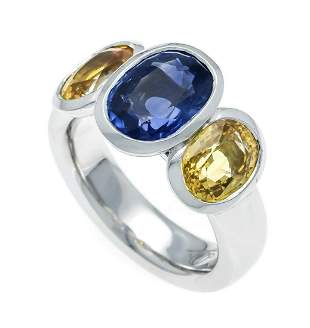 Fa. Schupp sapphire ring WG 75