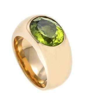 Peridot ring GG 750/000 with o