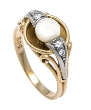 Pearl-cut diamond ring GG/WG 5