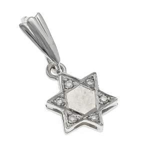 Diamond pendant star WG 585/00