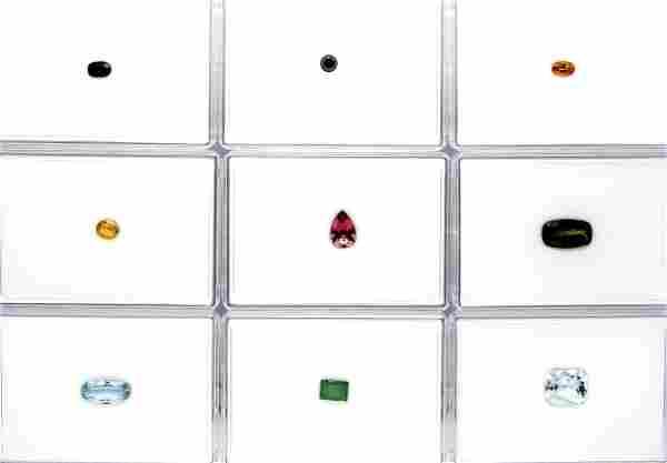 Investment gemstone box with 9