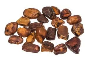 Mixed lot 72 amber chunks, 60