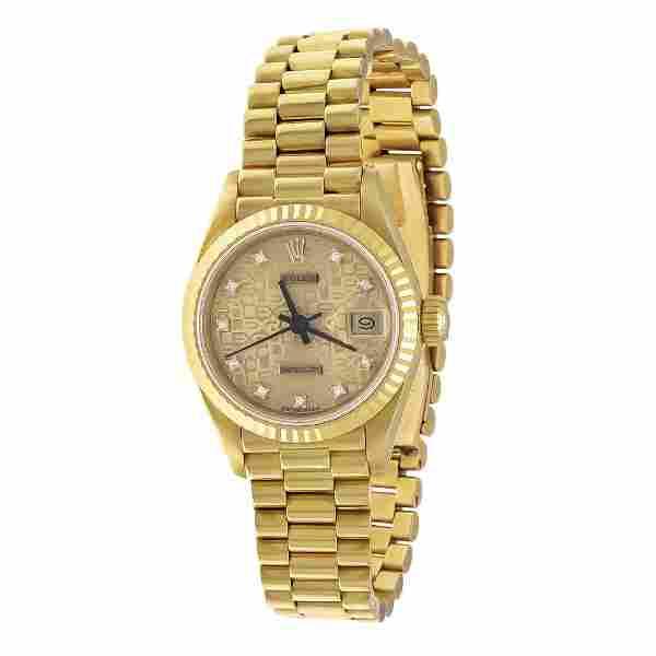 Rolex Datejust goldf. annivers