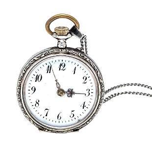 open ladies pocket watch, 800/