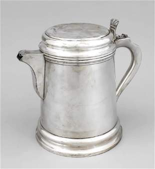 Large jug, 20th c., plated, ro