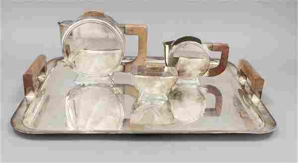 Three-piece Art Deco tea cente