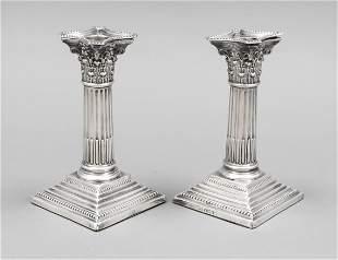 Pair of candlesticks, England,