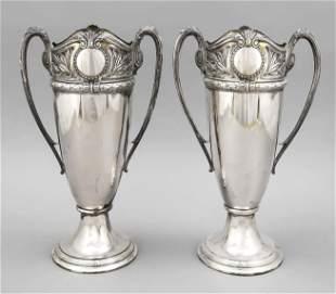Pair of Art Nouveau vases, c.