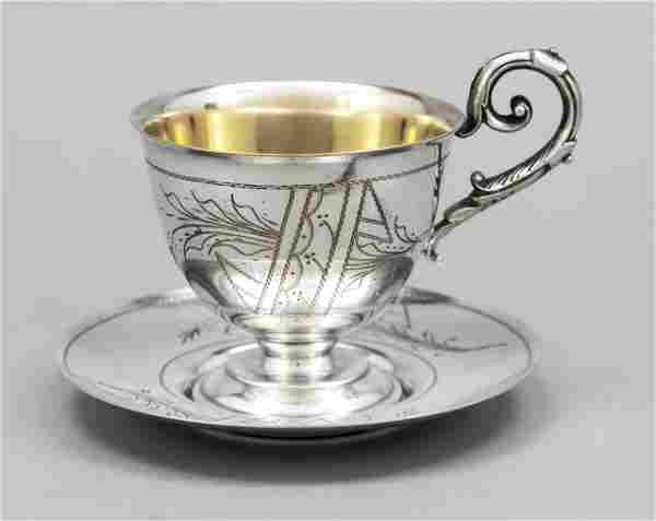 Cup with saucer, German, c. 19