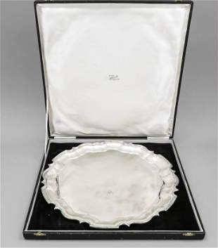 Large round tray, India, 20th