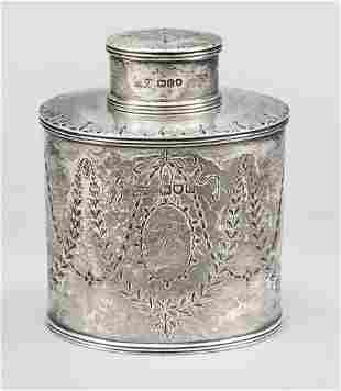 Tea caddy, England 1898, maste