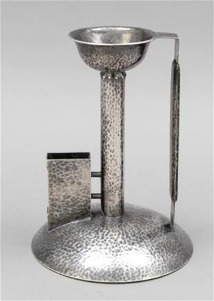 Candlestick with matchbox hold