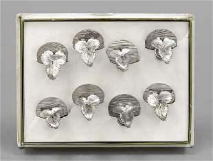 Eight place card holders, Fran