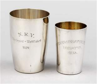Two small cups, German, 20th c