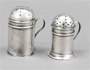 Two salt shakers, England, 20t