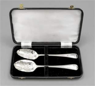 Pair of ornamental spoons, Eng