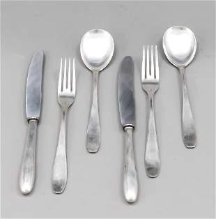 18 pieces Art Deco cutlery, Ge