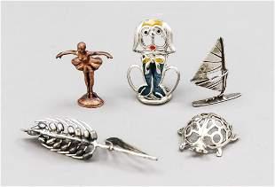 Three miniatures, 20th c., sil