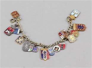 charm bracelet with numerous p