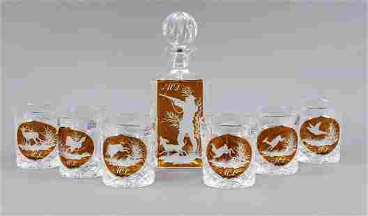 Seven-piece hunting whisk(e)y set, P