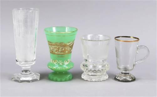 Set of four souvenir glasses, 19th/2