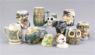 Mixed lot of 23 joke jugs, Thuringia