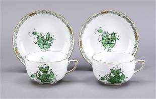 Two tea cups with saucer, Herend, ma