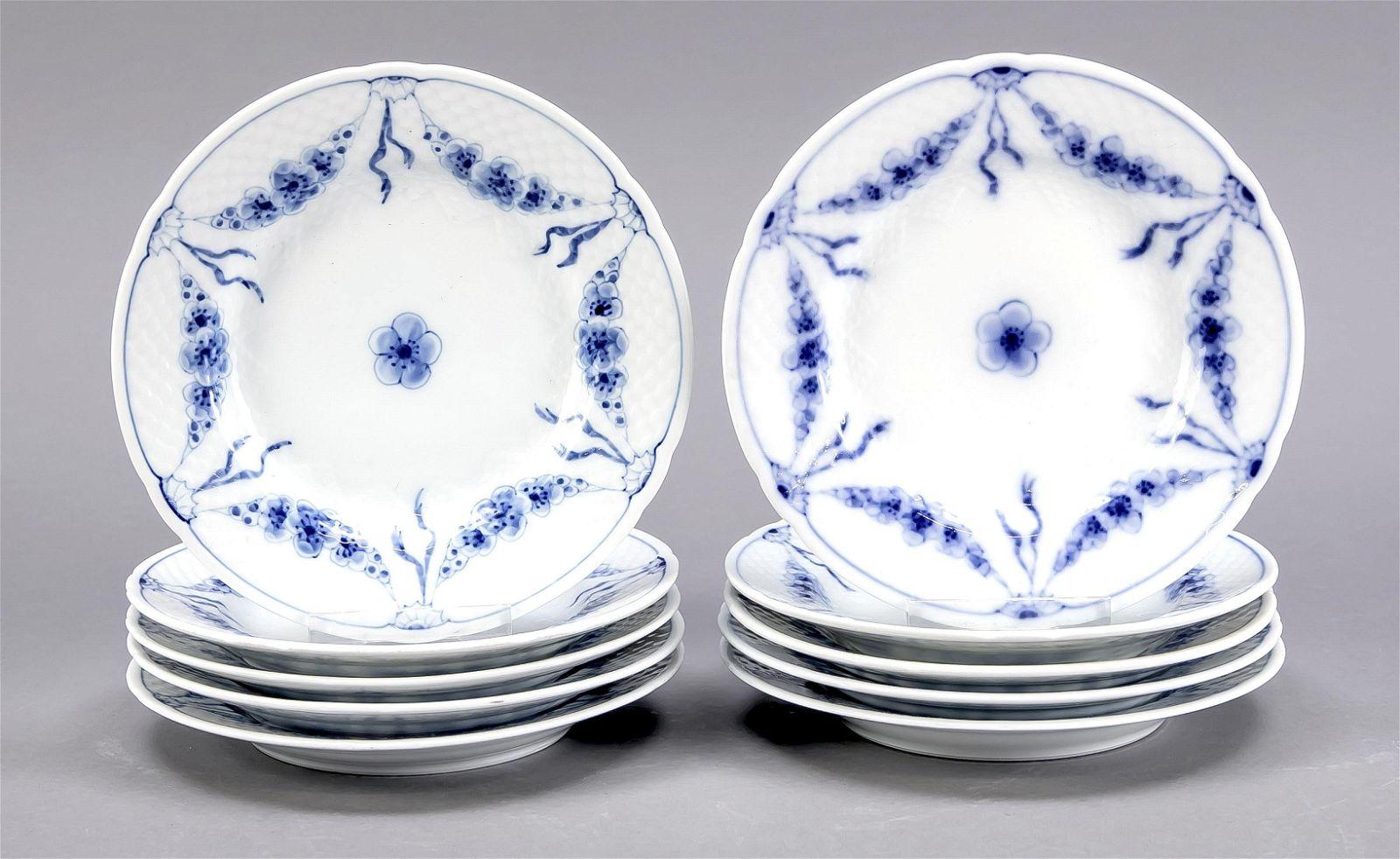 Ten bread plates, Bing & Gröndahl, C