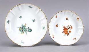 Two round bowls, Nymphenburg, mark 1
