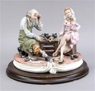 Visit to the shoemaker, Capodimonte,