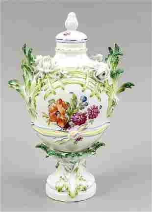 Potpourri lidded vase, KPM Berlin, 1