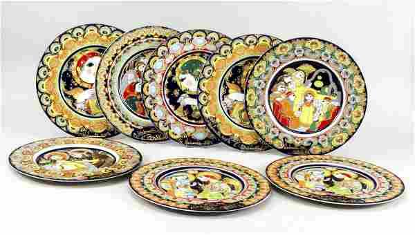 Eight Christmas plates, Rosenthal, S