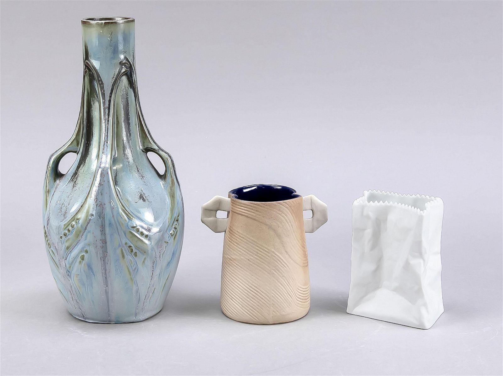 Three ceramic vases, 20th c., Art No