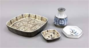 Kovolut ceramics, 4 pieces, 20th c.,